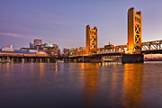 Man Made Space Prints - Tower Bridge Over The Sacramento River Print by Bryan Mullennix