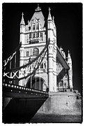 Iconic Design Framed Prints - Tower Bridge Profile Framed Print by John Rizzuto