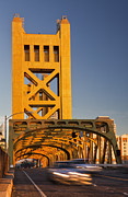 Tower Of The Americas Photos - Tower Bridge Sacramento California Usa by Bryan Mullennix