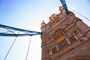 Support Metal Prints - Tower Bridge Tower Metal Print by Christopher Hope-Fitch