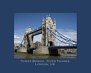 Summer Games Framed Prints - Tower Bridge with Text Framed Print by Heidi Hermes