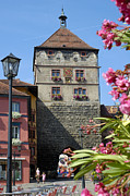 Tor Photo Posters - Tower in old town Rottweil Germany Poster by Matthias Hauser