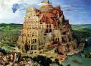 Pieter Prints - Tower Of Babel Print by Pieter Bruegel