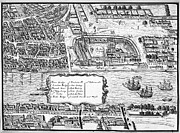 London City Map Framed Prints - Tower Of London, 1560 Framed Print by Granger