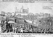 English Civil War Prints - Tower Of London: Execution Print by Granger