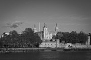 Tower Of London Framed Prints - Tower of London riverside Framed Print by Gary Eason