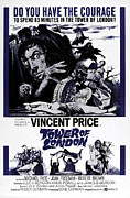 Horror Illustration Prints - Tower Of London, Vincent Price Top Print by Everett