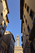 Flagstone Framed Prints - Tower of Palazzo Vecchio Framed Print by Jeremy Woodhouse