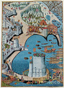 Muslim Posters - Tower Of Saint Nicolas, Siege Poster by Photo Researchers
