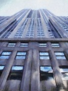 Empire State Building Digital Art Metal Prints - Tower of Steel and Stone Metal Print by Jeff Kolker