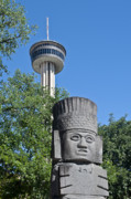 Tower Of The Americas Photos - Tower of the Americas Totem by Tom Dowd