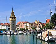 Lindau Framed Prints - Tower on the Water Framed Print by Dean Farrell