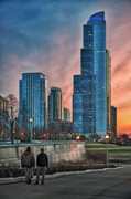 Chicago Digital Art Metal Prints - Towering over us Metal Print by Donald Schwartz