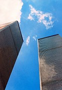 Twin Towers World Trade Center Prints - Towers Print by Bruce Lennon
