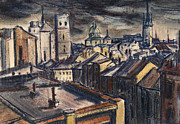 Paiting Originals - Towers of Olomouc by Aljo Beran