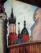 Krakow Originals - Towers of St. Marys Basilica by Andrey Volkov
