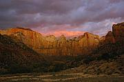 Zion National Park Framed Prints - Towers Of The Virgin At Dawn - Zion Framed Print by Stephen  Vecchiotti