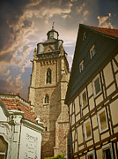 Wolken Prints - Town church of Bad Wildungen Print by Bildaspekt De