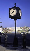 Town Clock Print by Sally Weigand