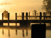 Www Greeting Cards Prints - Town Docks Print by Michael Mooney
