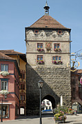 Tor Photo Posters - Town gate Schwarzes Tor in Rottweil Germany Poster by Matthias Hauser