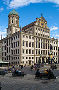 Architecture - Town hall Augsburg - Corner View by Pit Hermann
