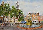 Hall Painting Prints - Town Hall Square Leicester Print by Tony Williams