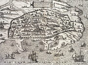 Ships Drawings - Town map of Alexandria in Egypt by Unknown