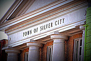 City Hall Prints - Town of Silver City New Mexico Print by Susanne Van Hulst