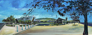 Library Paintings - Town of Tiburon Library by Graciela Placak