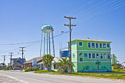 Topsail Island Photos - Town of Topsail Water Tower by East Coast Barrier Islands Betsy A Cutler