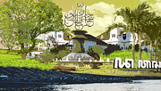 Caligraphy Digital Art - Town Park by Iari Ac