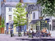 Historic Home Painting Prints - Town Square Eynsham Print by Mike Lester
