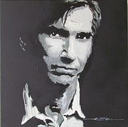 Writer Drawings Prints - Townes Van Zandt  Print by Eric Dee