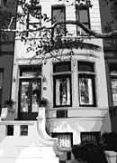 Nyc Digital Art Metal Prints - Townhouse BW8 Metal Print by Scott Kelley