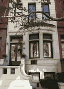 Nyc Digital Art Metal Prints - Townhouse Color 16 Metal Print by Scott Kelley