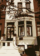 Nyc Digital Art Metal Prints - Townhouse Color 6 Metal Print by Scott Kelley