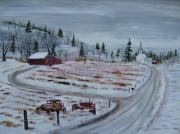Acryllic  Paintings - Towns Edge by Jack  Brauer