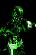 Boxing  Prints - Toxic Boxer Print by Val Black Russian Tourchin