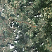 Caustic Prints - Toxic Sludge Spill, Hungary, 2010 Print by Nasa