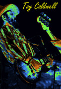 Toy Guitars Prints - Toy Caldwell Jamming 2 Print by Ben Upham
