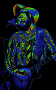 Toy Guitars Prints - Toy Caldwell Jamming 3 Print by Ben Upham