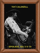 Toy Guitars Prints - Toy Caldwell of the Marshall Tucker Band Print by Ben Upham