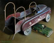 Old Trucks Paintings - Toy Crossroads by Doug Strickland