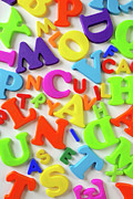 Supplies Prints - Toy Letters Print by Carlos Caetano