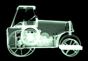 Workings Art - Toy Tin Tractor, X-ray by Neal Grundy