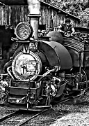 Toy Train Prints - Toy Train bw Print by Steve Harrington
