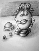 Toys Drawings - Toying With Emotions by Tracy Glantz