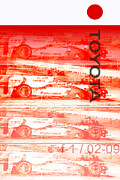 Digital Processing Prints - Toyota Formula One Print by Curt Johnson