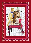 Toys Digital Art - Toys In A Red Wagon by Arline Wagner
